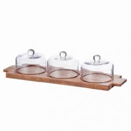 Käsebrett + 3 Glasbehälter S&P Fromage, 44x14x10cm, 44x14x10cm