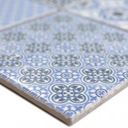 Keramik Mosaikfliesen Daymion Retrooptik Blau | Wandverkleidung Badfliesen Bad Mosaikstein Natursteinfliesen Fußbodenfliesen Dekorative Fliesen Dekor - 1