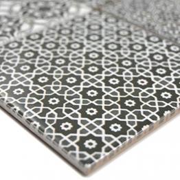 Keramik Mosaikfliesen Daymion Retrooptik Schwarz | Wandverkleidung Badfliesen Bad Mosaikstein Natursteinfliesen Fußbodenfliesen Dekorative Fliesen Dekor - 1