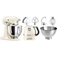 KitchenAid Küchenmaschine Artisan 5KSM175PSEAC mit Gratis Wasserkocher 2 Schüssel Flexirührer 300 Watt Schüssel 48 Liter