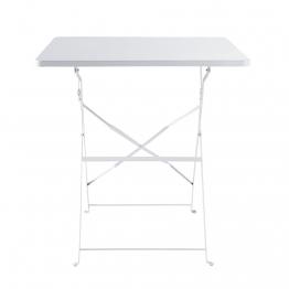 Klappgartentisch aus Metall, B 70cm, weiß