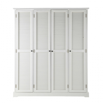 Kleiderschrank aus Holz, B 170cm, weiß