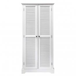 Kleiderschrank aus Holz, B 86cm, weiß