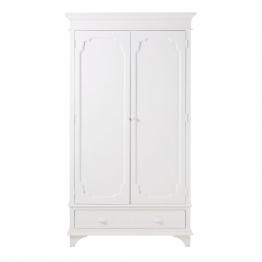 Kleiderschrank mit 2 Türen, gebrochenes Weiß Idylle