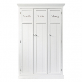 Kleiderspind aus Holz, B 125cm, weiß