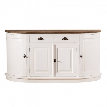 Kommode Brighton 4 Türen + 2 Schubladen white&natural, 170 × 52 × 86 cm