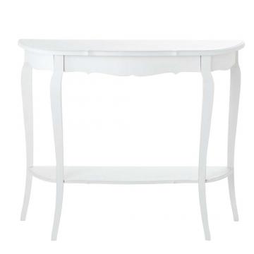 Konsolentisch aus Holz, B 94cm, weiß