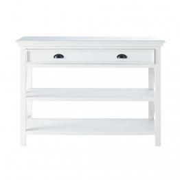 Konsolentisch aus Holz weiß B 120cm
