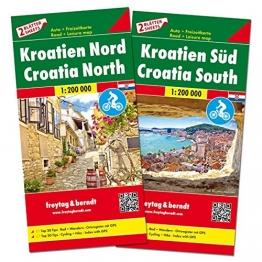 Kroatien Nord und Süd, Autokarten Set 1:200.000 (freytag & berndt Auto + Freizeitkarten) - 1
