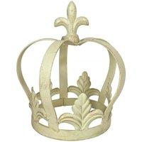 Krone Lilie Metall Creme Weiß Dekokrone Metallkrone Antik-Stil Barock