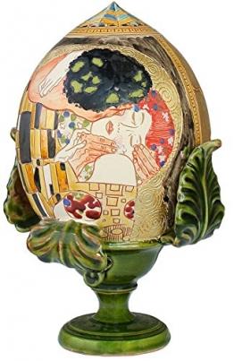 """Pumo Dekoelement, Motiv: """"Der Kuss"""" von Klimt, traditionelles Apulisches Deko-Objekt, italienische Handarbeit - 1"""