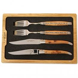Laguiole en Aubrac 2er Set Messer-Gabel, Olivenholz, CCF99OLIH - 1