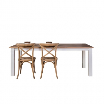 landhaus esstisch in wei eiche online kaufen shop ambiente mediterran. Black Bedroom Furniture Sets. Home Design Ideas