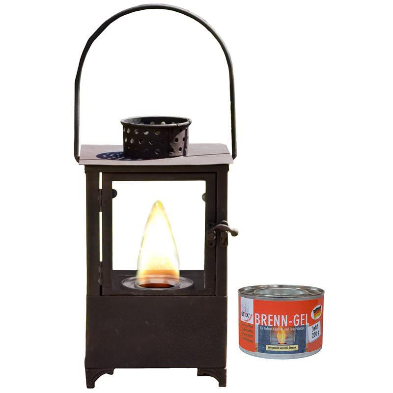 laterne hacienda f r brenngel inkl brenngel dose shop. Black Bedroom Furniture Sets. Home Design Ideas