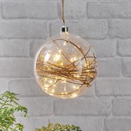 LED-Dekokugel Glow klar, Rattan Ø 20 cm