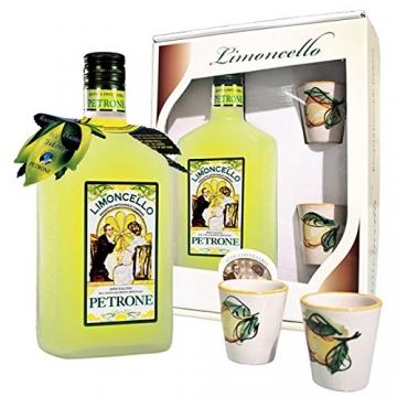 Limoncello 100% natürlich mit Keramik-Gläser von Vietri sul Mare, von Hand bemalt - 2