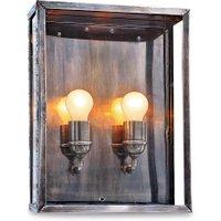 LOBERON Außenwandlampe Espui, antiksilber (13.5 x 30.5 x 40.5cm)
