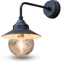 LOBERON Außenwandlampe Mckayla, schwarz (28cm)