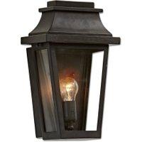 LOBERON Außenwandlampe Toledo, schwarz (15 x 23 x 37cm)