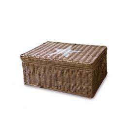 LOBERON Box Carcans, braun/weiß (20 x 26 x 16cm)