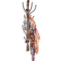 LOBERON Garderobe Crenshaw, antikbraun (15.5 x 24.5 x 82.5cm)