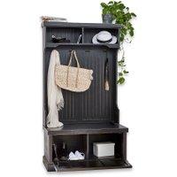LOBERON Garderobe Loundres, antikschwarz (50 x 100 x 180cm)