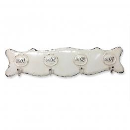 LOBERON Hakenleiste Sharpay, antikweiß (4 x 45.7 x 11.3cm)