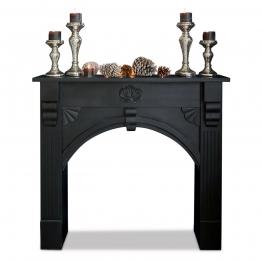 LOBERON Kaminkonsole Beauvis, schwarz (20 x 108 x 97cm)