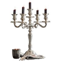 LOBERON Kerzenständer Lannet, silber (37 x 40cm)