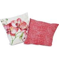 LOBERON Kissen 2er Set Fenela, creme/pink (50 x 40cm)