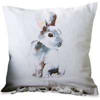 LOBERON Kissenhülle Rabbit, weiß (40 x 40cm)