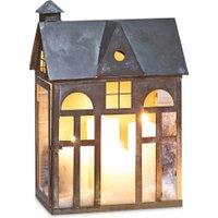 LOBERON Laterne Sweet Home, antikgrau (17 x 30 x 44.5cm)
