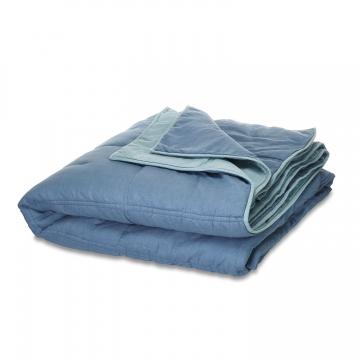 LOBERON Quilt Marmagne, blau (240 x 260cm)