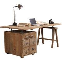 LOBERON Schreibtisch Dawson, braun (90 x 180 x 81cm)