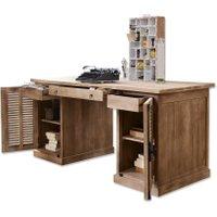 LOBERON Schreibtisch Woodmore, antikbraun (75 x 170 x 80cm)