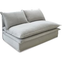 LOBERON Sofa 2-Sitzer Curdis, grau (168 x 97 x 78cm)