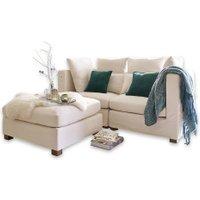 LOBERON Sofa Aronce, weiß (90 x 180 x 94cm)