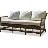 LOBERON Sofa Cuchery, braun/creme (80 x 180 x 79cm)