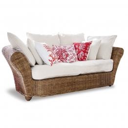 LOBERON Sofa Trenton, braun/weiß (100 x 190 x 68cm)