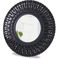 LOBERON Spiegel Vairé, schwarz (3cm)