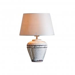 LOBERON Tischlampe Chavin, leinen/antikweiß (41cm)