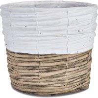 LOBERON Übertopf Chalais, braun/weiß (25cm)