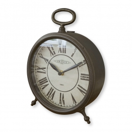 LOBERON Uhr Cyl, antikschwarz (8.5 x 21.5 x 29cm)