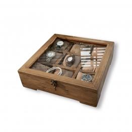 LOBERON Uhrenbox Ypern, braun (30 x 30 x 9cm)