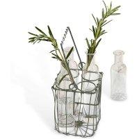 LOBERON Vase 4er Set Arbignon, klar/schwarz (12cm)