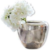 LOBERON Vase Birs, silber (21 x 26 x 22cm)