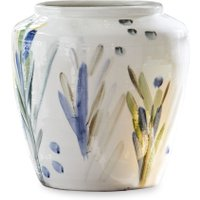 LOBERON Vase Verdure, grün/weiß (33cm)