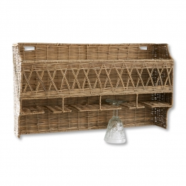 LOBERON Wandregal Eastport, antikbraun (14 x 60 x 35cm)