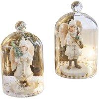 LOBERON Weihnachtsschmuck 2er Set Children, klar (13.2cm)