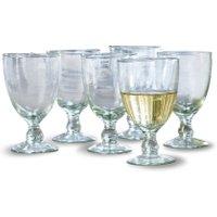 LOBERON Weinglas 6er Set Moière, klar (9 x 9 x 14cm)